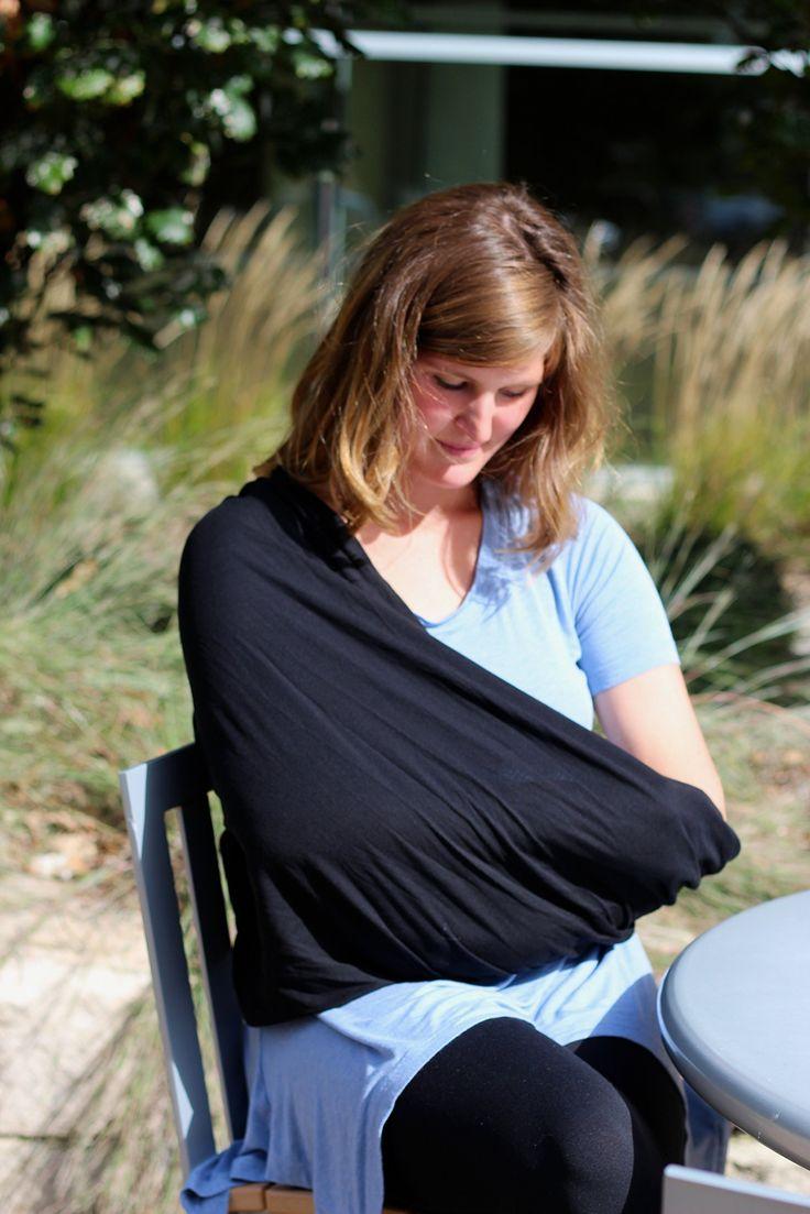 Amazon.com : InfinityMOM Nursing Scarf (Black) : Privacy Nursing Covers : Baby