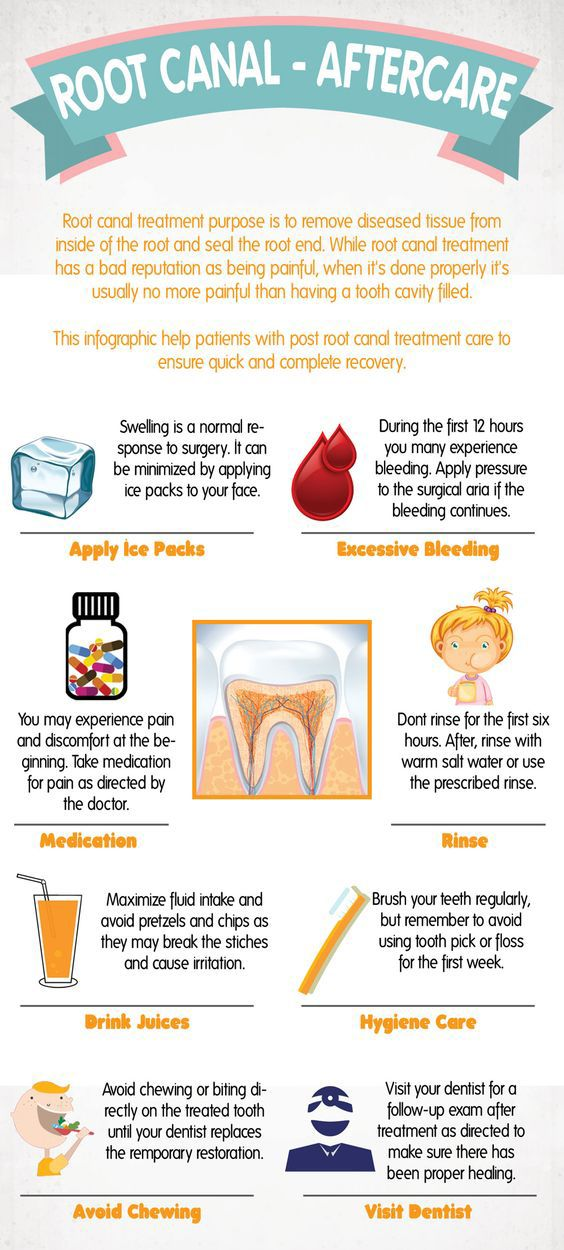 #RootCanal Aftercare #Infographic #dental