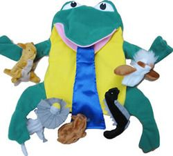 """Aboriginal - Tiddalick the Puppet Everyone knows the famous Dreamtime Story of """"Tiddalick the Frog"""", well now here is your own Tiddalick puppet that supports the story. This puppet makes a wonderful addition to any children's story time """"Tiddalick the Frog"""" Dreamtime Story."""