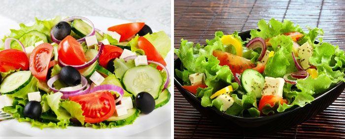 Овощной салат при белковой диете