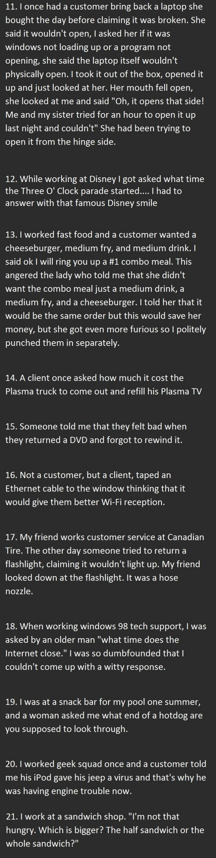 Tickld Mobile - 21 Dumbest Customers Ever. Number 12 Is So Stupid It Hurts.