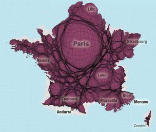 La France selon la répartition de sa population