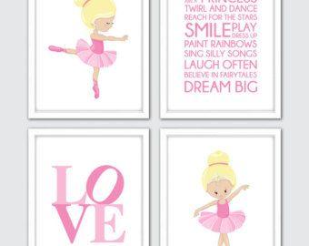 BALLERINA Nursery Art Ballerina Nursery Decor by LovelyFaceDesigns