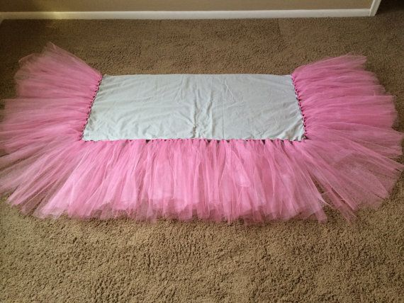 Tulle Tutu Crib Skirt or Bed Skirt by awitz101 on Etsy