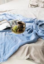 Wavy Diamond Ozean-Blau   Die Lebendige - Elmas Home Wohndecke - Decke - Überwurf - Plaid - Sofadecke - Tagesdecke - Kuscheldecke