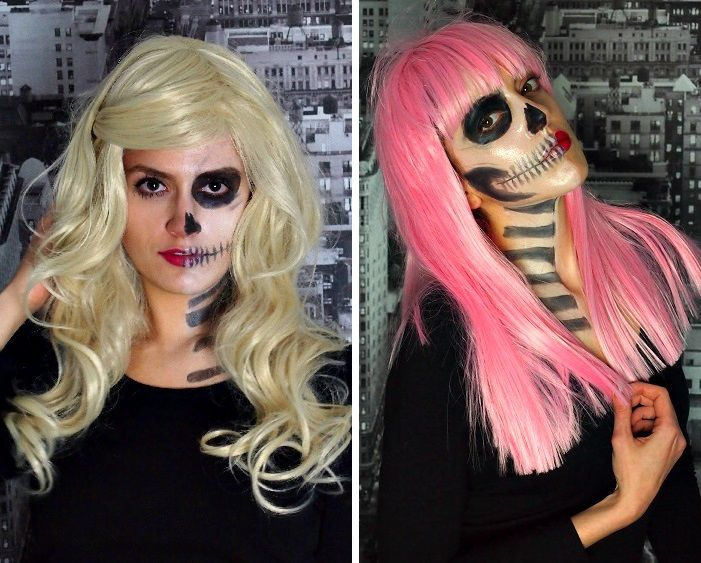 halloween pink wig blonde wig