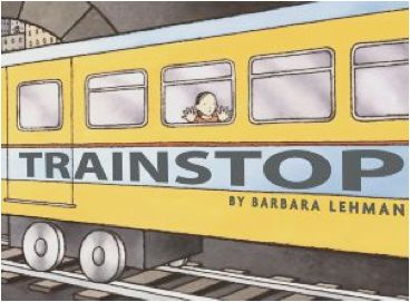 """Author Barbara Lehman says about Trainstop: """"I lived near a very old train station as a child, and loved the sound of the trains going by.  And when I became a subway rider, I was fascinated by all the strange things you could glimpse while the train sped through the tunnels, as well as by hearing the tales of abandoned stations and trainstops."""""""