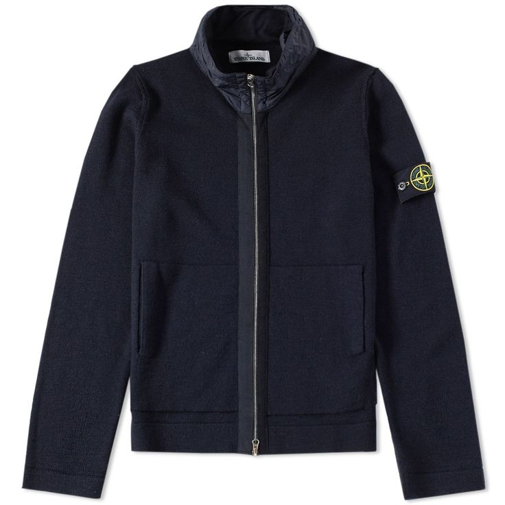 Stone Island Slub David-TC Zip Hoody (Navy)