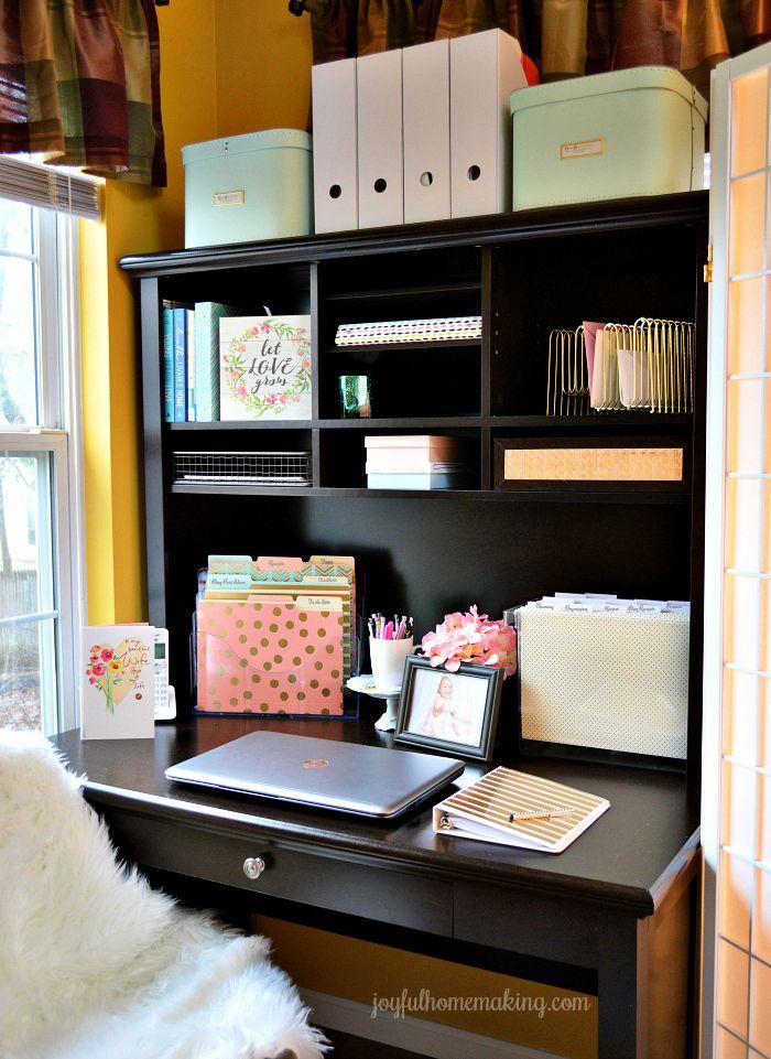 Office Organization Ideas Joyful Homemaking Small Office