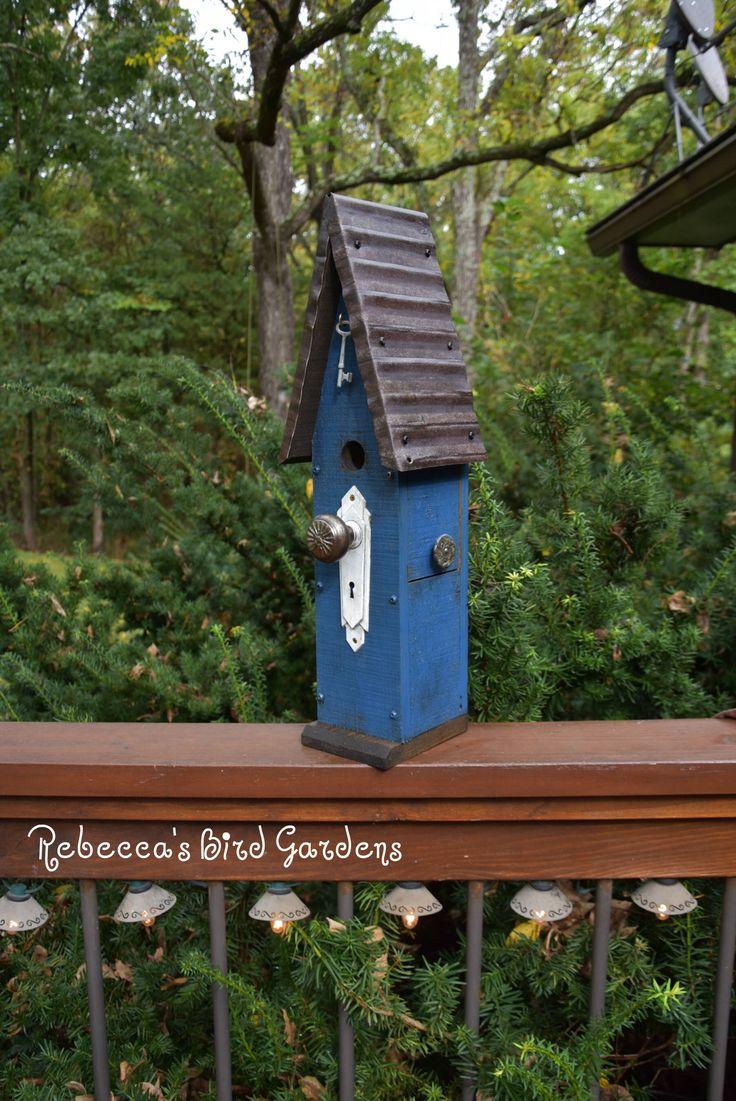 Blue Rustic Birdhouse The Loft