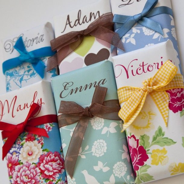 Personalised Chocolates - Dottie Creations, £3.95 each