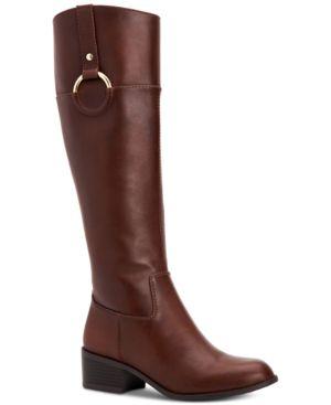 ea452b54aae6 Alfani Women s Briaah Wide-Calf Riding Boots