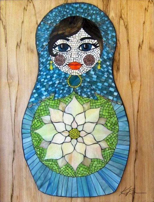 Matryoshka Doll Mosaic - by Kasia Mosaics's