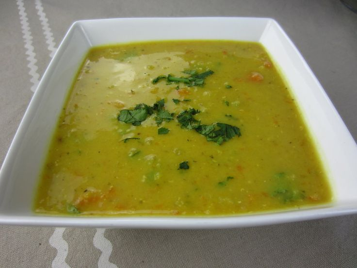Red Lentil Soup with Cumin and Coriander