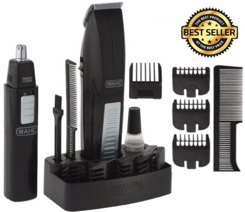Wahl-Mustache-And-Beard-Trimmer-Set-Hair-Cut-Clipper-Kit-Ear-Nose-Groomer-Shaver