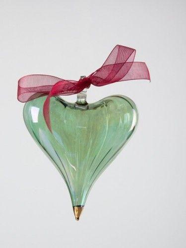 Gorgeous green glass heart
