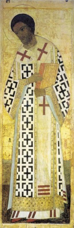 St. John Chrysostom, 1408Andrei Rublev - by style - Byzantine