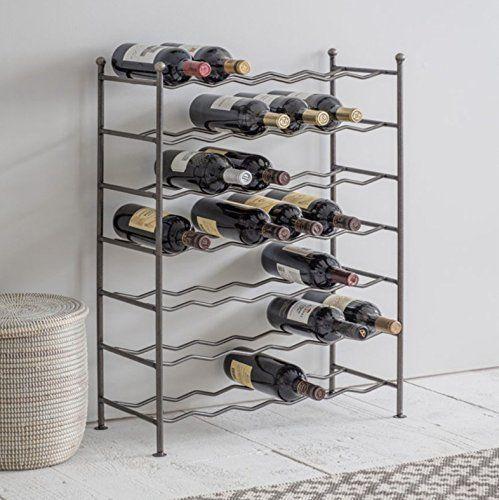 CKB Ltd® Deluxe 42 Bottle Large Wine Rack Étagère à bouteilles – Steel – Casier à vin range bouteilles en Métal étagère à bouteilles de vin…