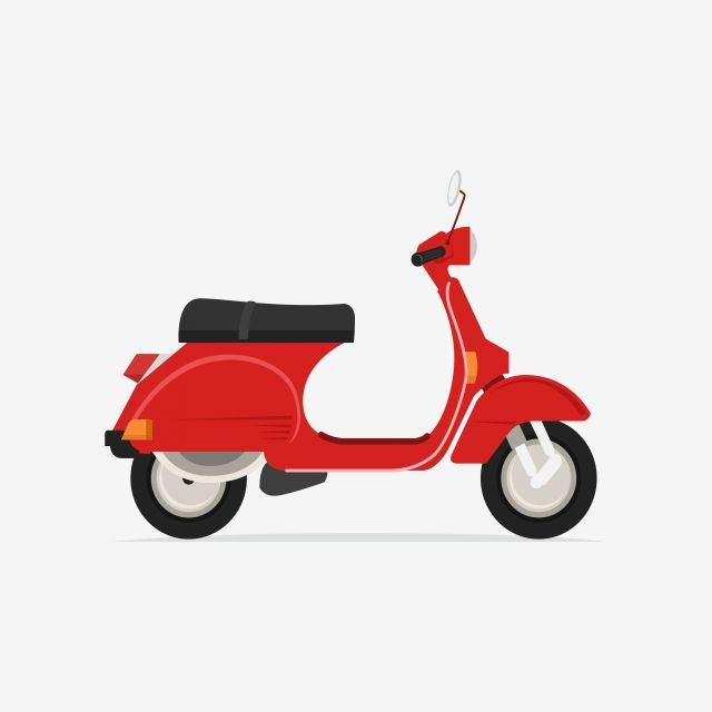 Scooter Motorcycle Moped Motorbike Png And Vector With
