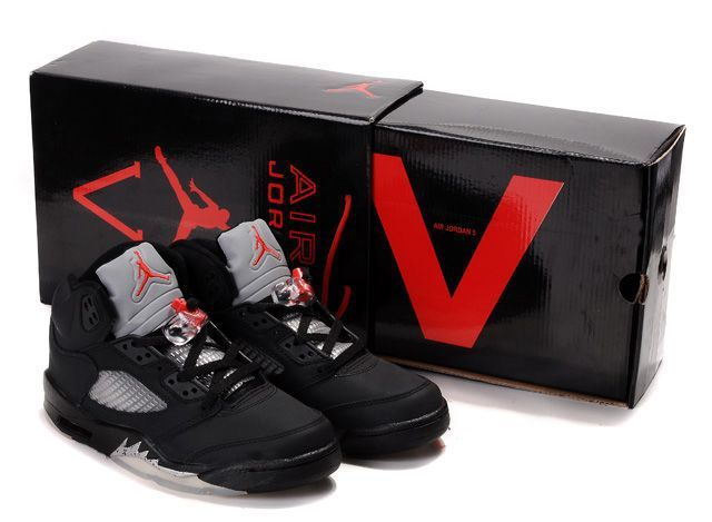 Air Jordan 5 Black/Varsity Red-Metallic Silver