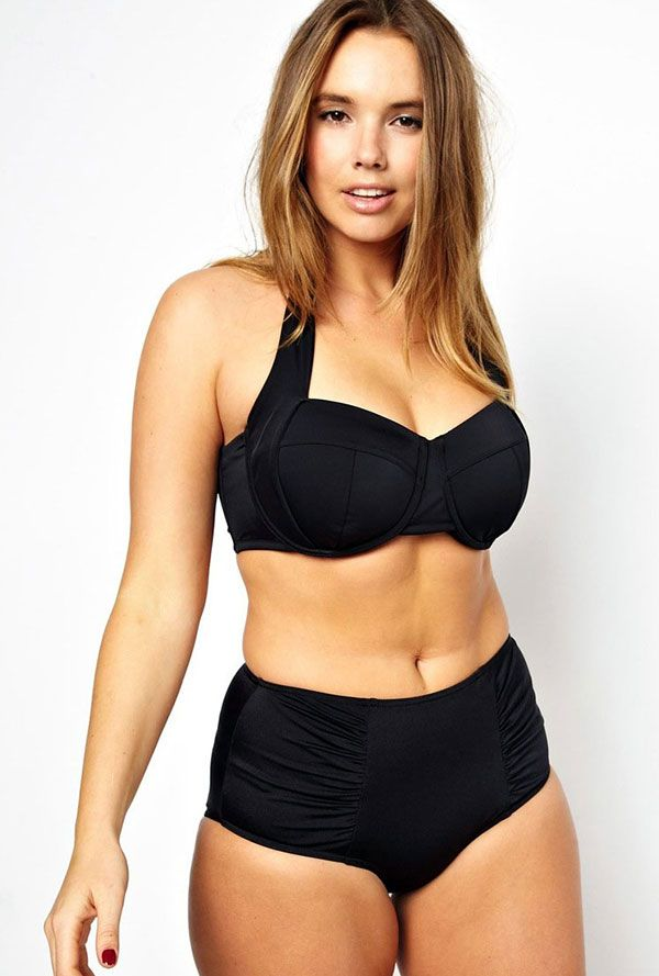 ASOS Curve High Waisted Bikini! I just have to lose a little belly and I love that it has a real bra in it!!