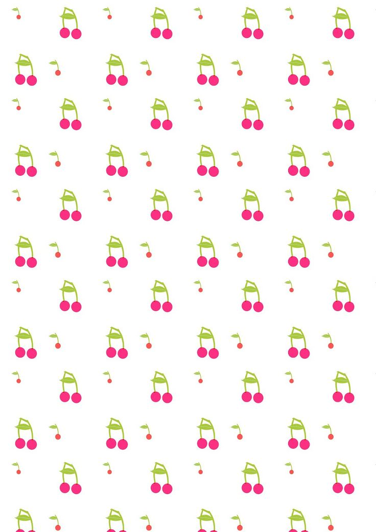FREE printable summer cherry fruit pattern paper