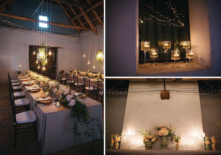 Wedding reception in farm house.