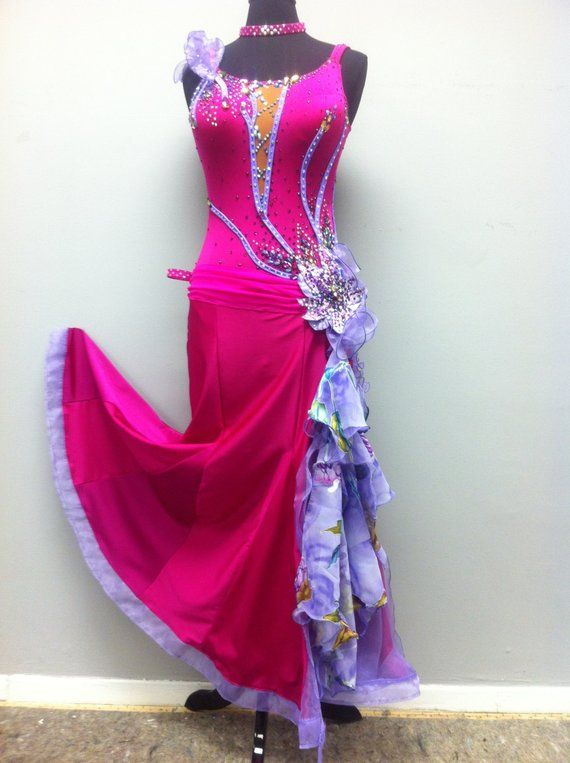 a314504f0f Pink Ballroom Dance Dress. Pink Ballroom Dance Dress Vestido Gris