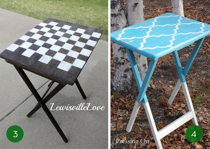 10 Clever Ways To Make Over Your TV Tray Tables
