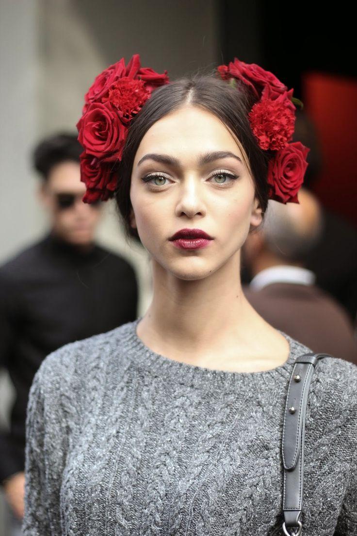 Zhenya Katava, Dolce & Gabbana Spring 2015. Source: Patrick G. Cardirchelier Chanel lipstick Giveaway