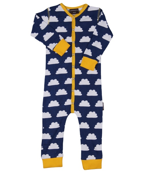 Maxomorra Jumpsuit lange mouw Clouds Blue