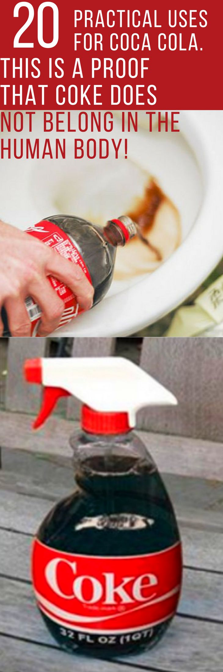 20 Practical Uses For Coca Cola. This is a Proof That Coke Does Not Belong In The Human Body!