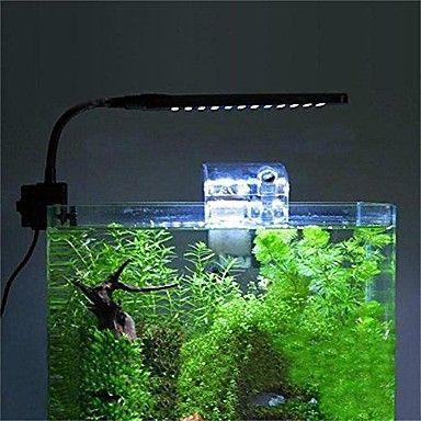 48 leds akvarium lampe fisken tank fleksibel klemme klipp førte lys hvit&blå farge belysning – NOK kr. 429