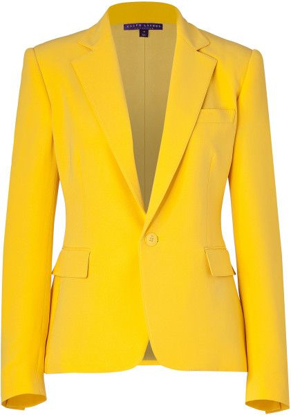 Love this: Yellow Silk Cady Keaton Blazer @Lyst