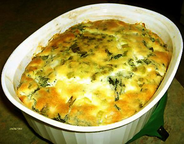 Impossible Greek Spinach Pie Recipe - Food.com This was good, takes about 45 to cook tho - jk
