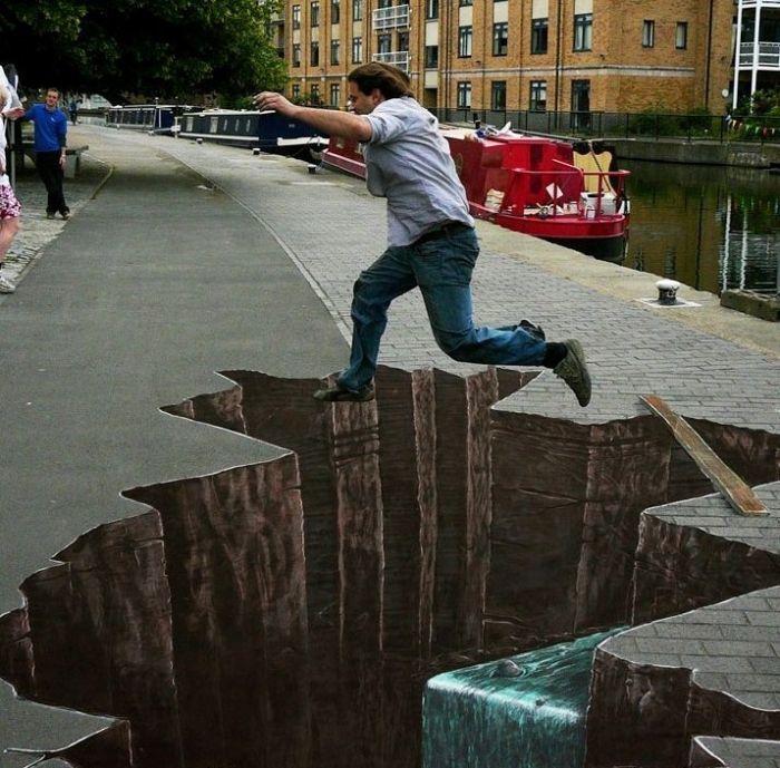Absolutely Brilliant 3D Chalk Art | Boo Fckm HooBoo Fckm Hoo
