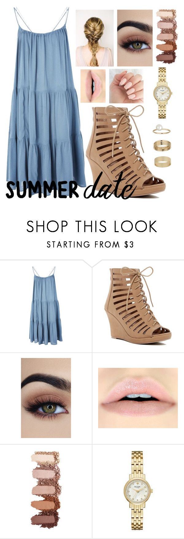"""""""Summer Date Night"""" by pratt-anna on Polyvore featuring Topshop, Top Moda, Kate Spade and Miss Selfridge"""
