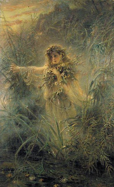"Konstantin Egorovich Makovsky (1839-1915), ""Ophelia"""