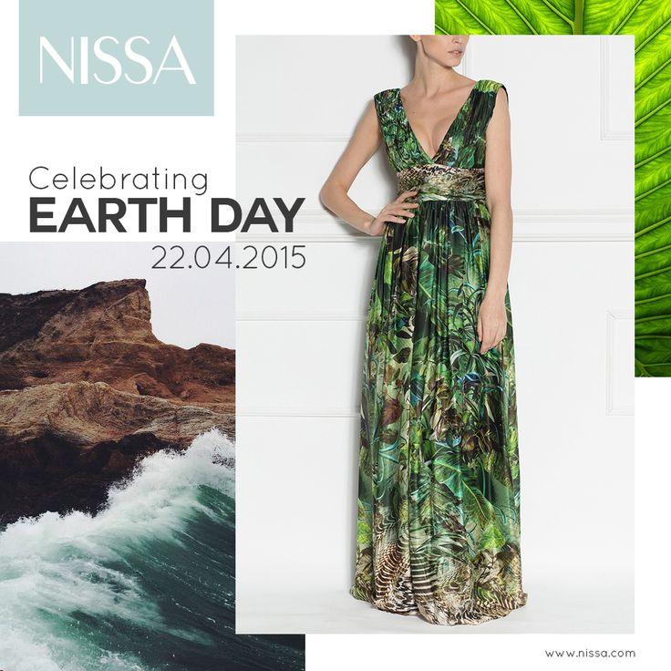 Celebrating EARTH DAY!  Jungle Print Dress: http://goo.gl/2BskCf  #nissa #earthday #ziuapamantului #earth #jungle #nature #green #print #dress