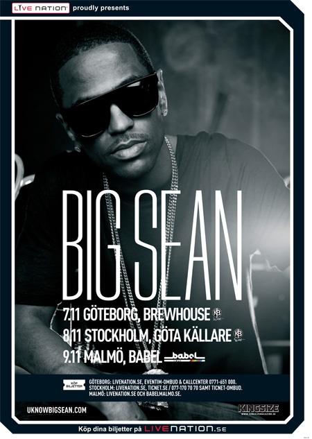 BIG SEAN | 7-9 november | Göteborg, Stockholm och Malmö |