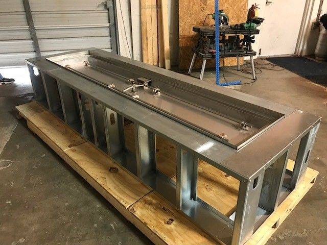 H Burner Within Fire Pit Frame Ready To Be Finished With Choice Of Masonry Material The Perfect Way To Fire Pit Frame Concrete Fire Pit Patio Glass Fire Pit