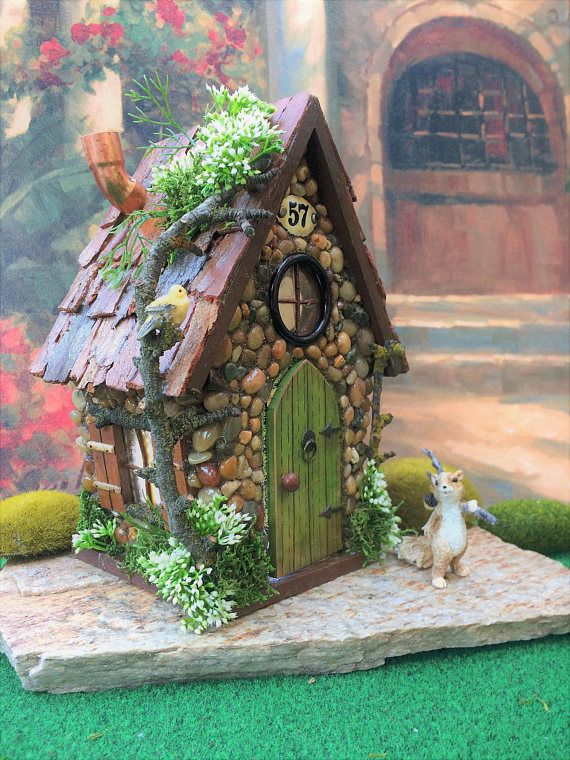 Solar Fairy House/ Fairy House/ Fairy Garden House / Outdoor