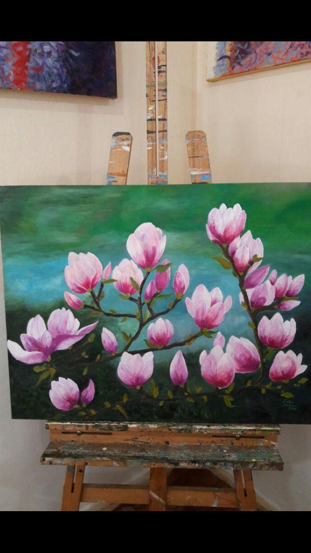 Manolya  60x80 cm yağlıboya tablo