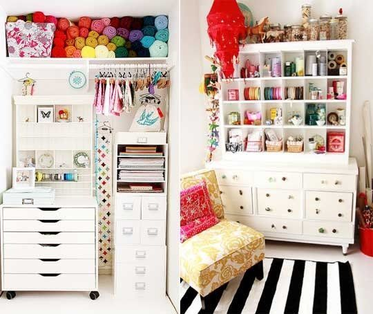 Love these craft rooms. Craft Room Ideas for Small Spaces | Apartment Therapy