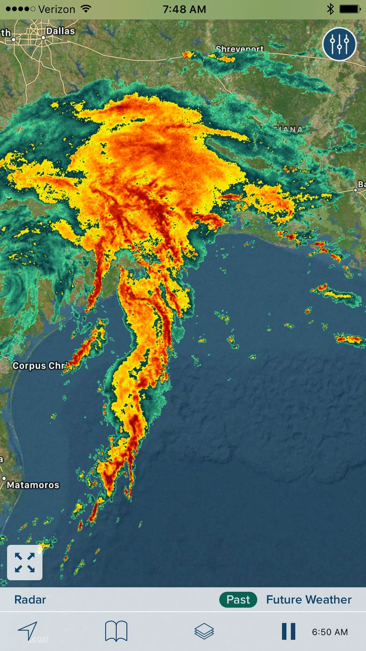 Radar as Hurricane Harvey sat on top