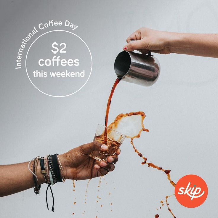 To celebrate international coffee day skip is offering $2 coffee this weekend (Sat & Sun)  Just enter promo code: SKIP2IT at check-out.  #skipapp #ballarat #coffee #oscarshotel
