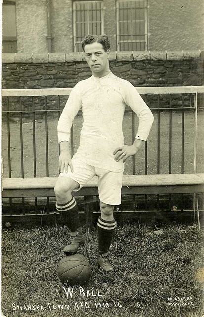 Billy Ball (his real name!), 1912.  To mark the centenary of Wales' only Premier League football side, the 'Swans 100' Project (based in Swansea University's History department) is launching a new online archive.