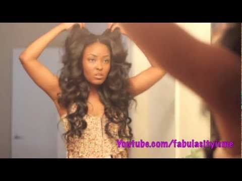 Get some HEATLESS waves in your hair girrrl! using flexi rods =)