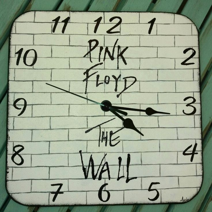 Hand painted clock Pink Floyd The Wall