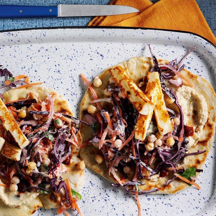 Loaded Halloumi Flatbreads Recipe Food Recipes Quick